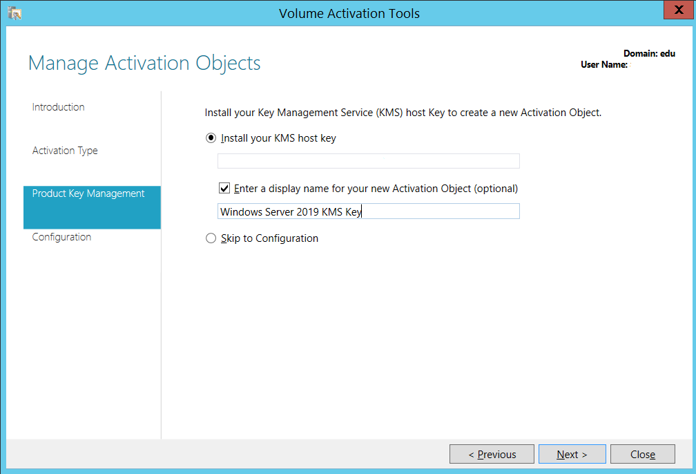 Issues with Windows Server 2012 R2 KMS host with Windows Server 2019